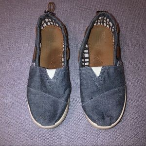 Toms Chambray Denim Bimini Canvas Flat Sneaker